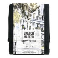 Набор маркеров SKETCHMARKER Gray set 12 - Серые тона (12 маркеров + сумка органайзер)