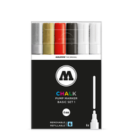 Набор меловых маркеров MOLOTOW CHALK BASIC SET 1 (4-8 мм), фото 1