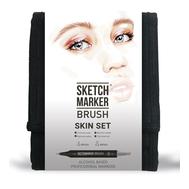 Набор маркеров SKETCHMARKER BRUSH 12 Skin Set - Оттенки кожи (12 маркеров + сумка органайзер)
