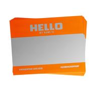 MONTANA Набор оранжевых стикеров (5 штук)