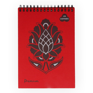 "Блокнот на спирали Palazzo Premium ""Red"", 140 х 198 мм, плотность 160 г/м2, 30 л, тиснение ""Холст"", 40% хлопка, красный, фото 1"