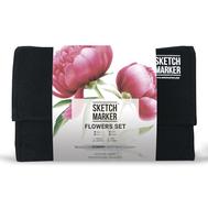 Набор маркеров SKETCHMARKER Flower Set (24 маркера + сумка органайзер)