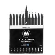 Набор линеров MOLOTOW Blackliner 11 шт, фото 1