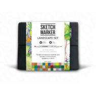 Набор маркеров SKETCHMARKER Landscape 36 set - Ландшафтный дизайн (36 маркеров + сумка органайзер), фото 1