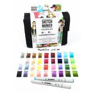 Набор маркеров SKETCHMARKER Fashion design 36 set - Дизайн одежды (36 маркеров + сумка органайзер)