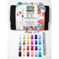 Набор маркеров SKETCHMARKER Manga set 24 - Манга набор (24 маркера + сумка органайзер), фото 1