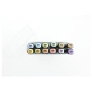 Набор маркеров FAT&SKINNY Пастельные цвета 12 шт, фото 2