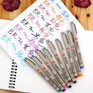 Ручка капиллярная Pigma Brush Голубой цвет, фото 2