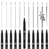 Набор линеров MOLOTOW Blackliner 11 шт, фото 2
