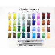 Набор маркеров SKETCHMARKER Landscape 36 set - Ландшафтный дизайн (36 маркеров + сумка органайзер), фото 2