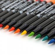 Набор маркеров акварельных Koi Brush 12 цветов, фото 2