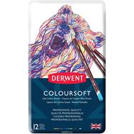 Набор Цветных Карандашей DERWENT Coloursoft 12 шт, фото 1