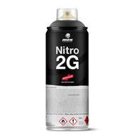 Краска аэрозольная NITRO 2G Черный 400 мл, фото 1