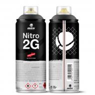 Краска аэрозольная NITRO 2G Черный 400 мл, фото 2