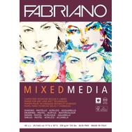 Альбом Mixed Media 250 г/м.кв 21x29,7 см мелкозернистая 40 л склейка по 1 стороне, фото 1