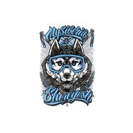 Стикеры от Fans. Хаски (синий), фото 1