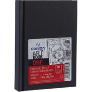 Блокнот для зарисовок Canson One 100г/кв.м 10.2*15.2см 100л твердая обложка черный, фото 1