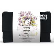 Набор маркеров SKETCHMARKER 24 Step 2 - Шаг 2 - набор для начинающих (24 маркера + сумка органайзер), фото 1