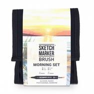 Набор маркеров SKETCHMARKER BRUSH 12 Morning Set - Утро (12 маркеров + сумка органайзер)