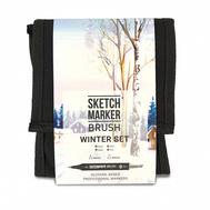 Набор маркеров SKETCHMARKER BRUSH 12 Winter Set - Зима (12 маркеров + сумка органайзер), фото 1