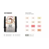 Набор маркеров SKETCHMARKER Skin tones 12 - Оттенки кожи (12 маркеров + сумка органайзер), фото 2