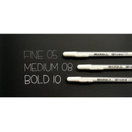Ручка гелевая Gelly Roll (белая 0,5 мм)