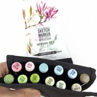 Набор маркеров SKETCHMARKER BRUSH 12 Spring Set - Весна (12 маркеров + сумка органайзер)