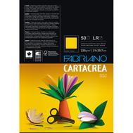 Бумага цветная Cartacrea 220г/м.кв 21x29,7см розовый 50л/упак, фото 1