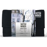 Набор маркеров SKETCHMARKER Gray set 24 - Серые тона (24 маркера + сумка органайзер), фото 1