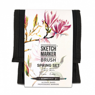Набор маркеров SKETCHMARKER BRUSH 12 Spring Set - Весна (12 маркеров + сумка органайзер), фото 1