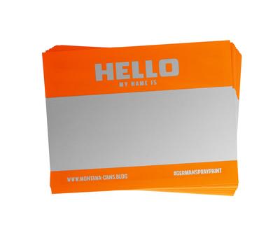MONTANA Набор оранжевых стикеров (5 штук), фото 1