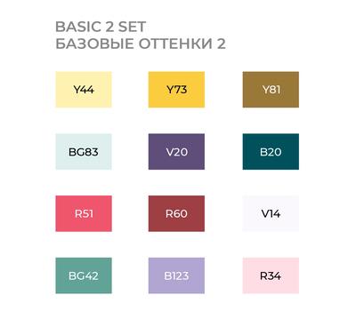 Набор маркеров SKETCHMARKER Basic 2 set 12 - Базовые оттенки сет 2 (12 маркеров + сумка органайзер), фото 3