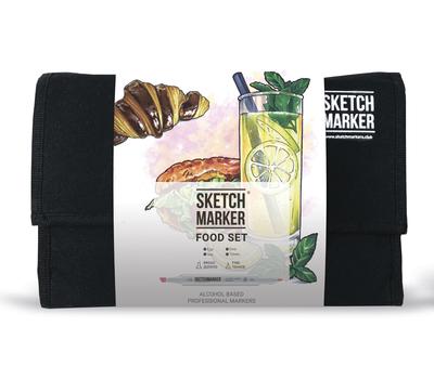 Набор маркеров SKETCHMARKER Food Set (24 маркера + сумка органайзер)
