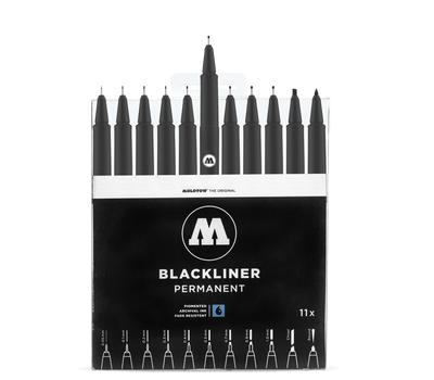 Набор линеров MOLOTOW Blackliner 11 шт