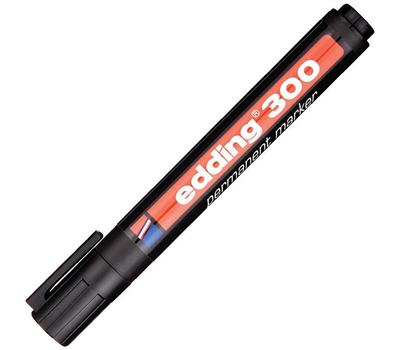 Маркер перманентный Edding E-300 Черный 1,5-3 мм, фото 1