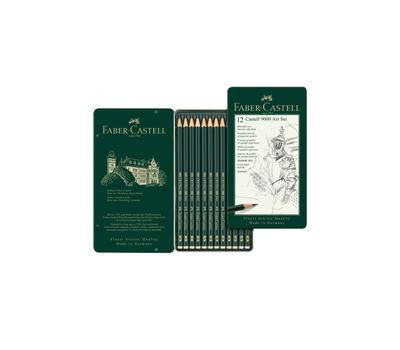 Набор карандашей Castell 9000 (8В,7В,6В,5В,4В,3В,2В,В,НВ,F,Н,2Н), фото 1