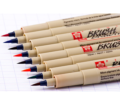 Набор капиллярных ручек Pigma Brush 9 шт