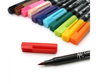 Набор маркеров акварельных Koi Brush 12 цветов, фото 5