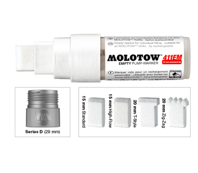 Маркер под заправку MOLOTOW 411EM 15 мм