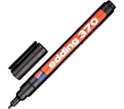 Маркер перманентный Edding E-370 Черный 1-2 мм