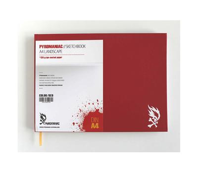 Скетчбук Pyromaniac A4 Красный, фото 4