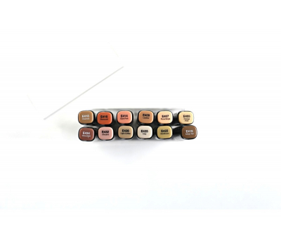 Набор маркеров FAT&SKINNY WOOD Лесные цвета 12 шт, фото 2
