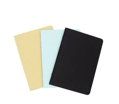 Скетчбук-книжка A5 (беж, хаки, голубой, черный), фото 1