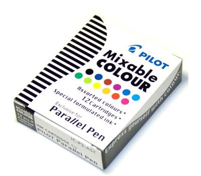 Pilot картридж для ручки уп. из 12шт разноцветные