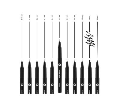 Линер MOLOTOW Blackliner 0.05 мм