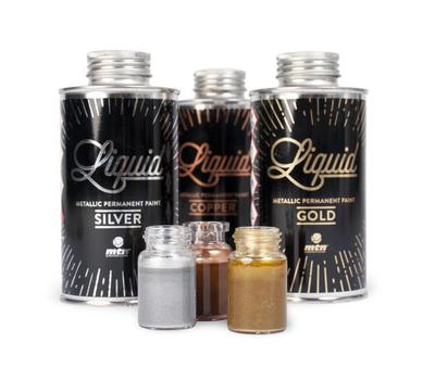Заправка MTN Liquid Paint Silver Серебро 200 мл, фото 2