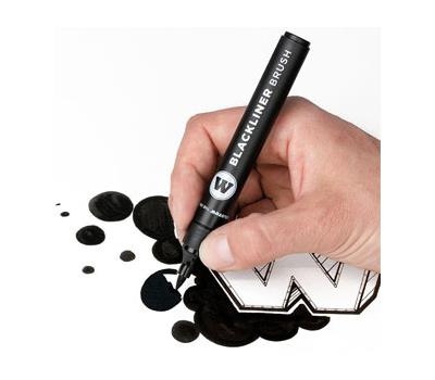 Маркер-кисть MOLOTOW Blackliner Brush Черный, фото 2