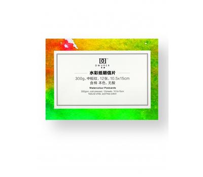 Альбом Dwurer Watercolor Postcard, 10 листов, A6 105 x 150 мм, 300 г/м, фото 1