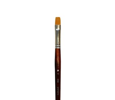 Кисть синтетика плоская удлиненная №12 (ширина 10 мм)