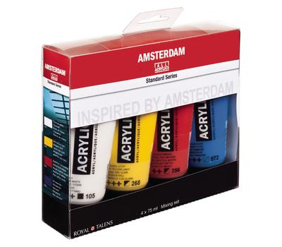 Набор акриловых красок Amsterdam Standart Mixing 4 цвета по 75 мл, фото 1